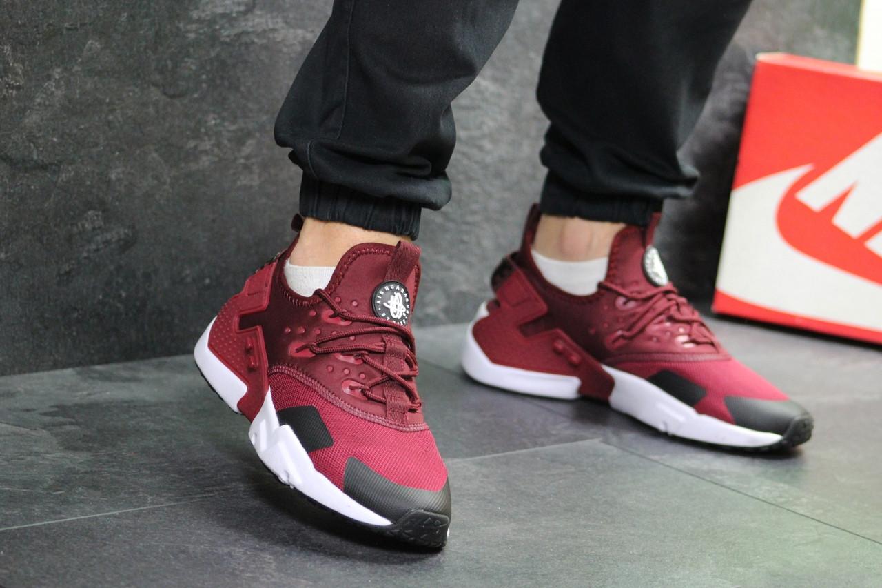 Мужские кроссовки Nike Air Huarache (Бордовые)