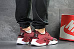 Мужские кроссовки Nike Air Huarache (Бордовые) , фото 3