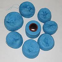 Остатки пряжи, нитки для вязания ГОЛУБЫЕ, акрил, вес 600 гр