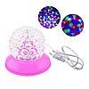 Обертова настільна різнобарвна лампа W118 Pink