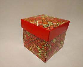 Упаковка для чашек из картона с крышкой (красная)