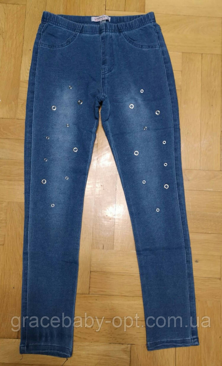 Лосины под джинс для девочек оптом, Grace, 134/140-158/164 см,  № G80688, фото 1