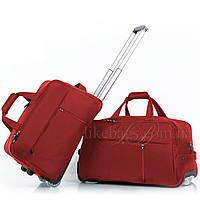 Идеальный комплект дорожных сумок на колесах Jacka 2в1, Красный, фото 1