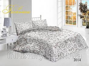 Евро комплект постельного белья Вензеля кофейные