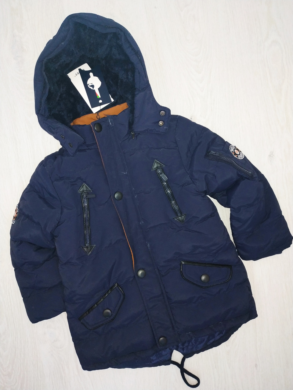 Куртка на меху для мальчика, евро-зима, Венгрия , Egret, 98  рр., арт. B61116,