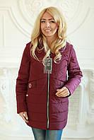 Куртка женская трансформер в жилет демисезонная размеры с 52 по 60, фото 1