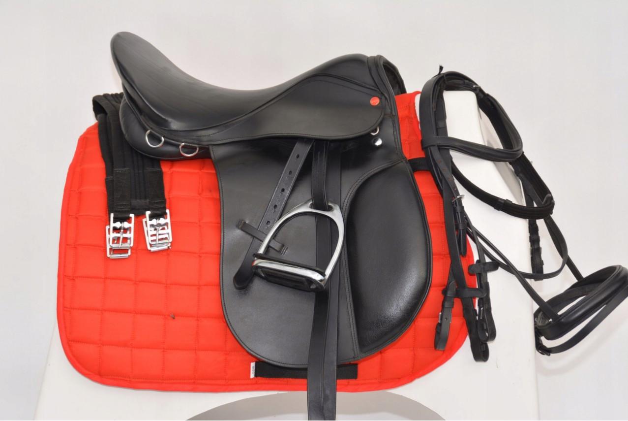 Сідло універсальне комплектне 17C,17,5C,18,C Diana + стремена+путлища + вуздечка + віжки + підпруга + вальтрап