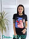 Женская летняя футболка с рисунком 5fut54, фото 2