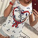 Женская летняя футболка с якорем 33fut71, фото 2
