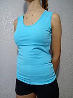 Майка женская спортивная с вкладышами пуш-ап цвет мята