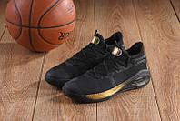 Баскетбольные кроссовки Under Armour Curry 6 black-gold