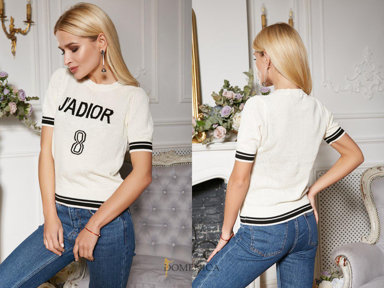 Женская футболка тонкой вязки с надписью 31fut72