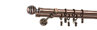 Карниз двойной 160см D16/16мм медь античная VERONA