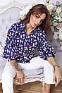 Коттоновая женская притованная блуза с рукавами-фонариками 14bir150, фото 2