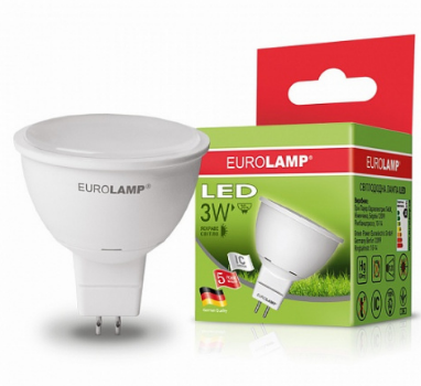 EUROLAMP LED Лампа ЕКО SMD MR16 3W GU5.3 3000K