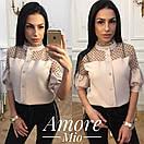 Женская блуза с рукавом до локтя из костюмки 73bir152, фото 2
