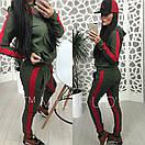 Женский спортивный костюм с ломпасами и капюшоном 58spt326, фото 3