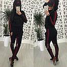 Женский спортивный костюм с ломпасами и капюшоном 58spt326, фото 5