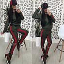 Женский спортивный костюм с ломпасами и капюшоном 58spt326, фото 7