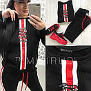 Женский спортивный костюм сиз двухнитки со вставками 58spt327, фото 2