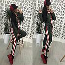 Женский спортивный костюм сиз двухнитки со вставками 58spt327, фото 3