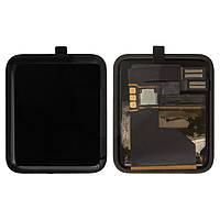 Дисплейный модуль (экран и сенсор) для Apple Watch 38 mm, черный