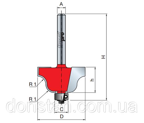Фреза концевая радиусная R2, фото 2