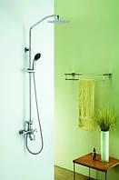 Настенный комплект для ванны с душевой головой и душем Blue Water den-zwpn.500 хром