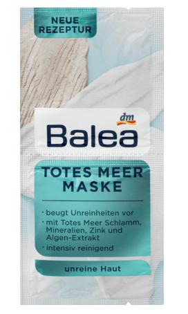 Маска для лица Balea Totes Meer Maske очищающая 2x8 мл