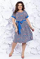Летнее женское платье 48-54 р