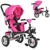 Детский трёхколёсный велосипед M 3647A-18 ярко- розовый Profi Trike