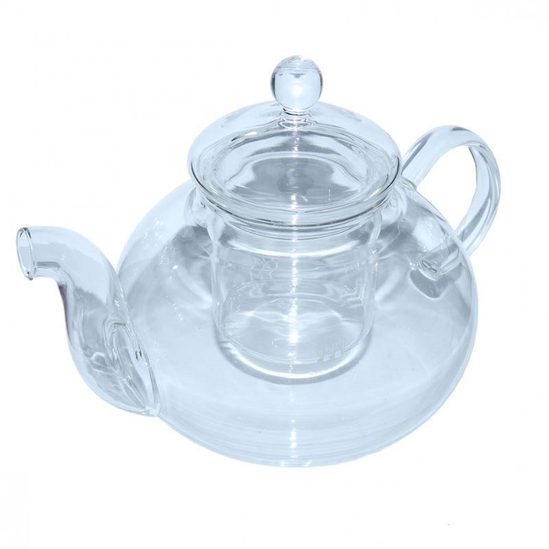 """Чайник заварочный стеклянный с стеклянным ситом """"Греческий"""" 1100 мл, 34288-1"""