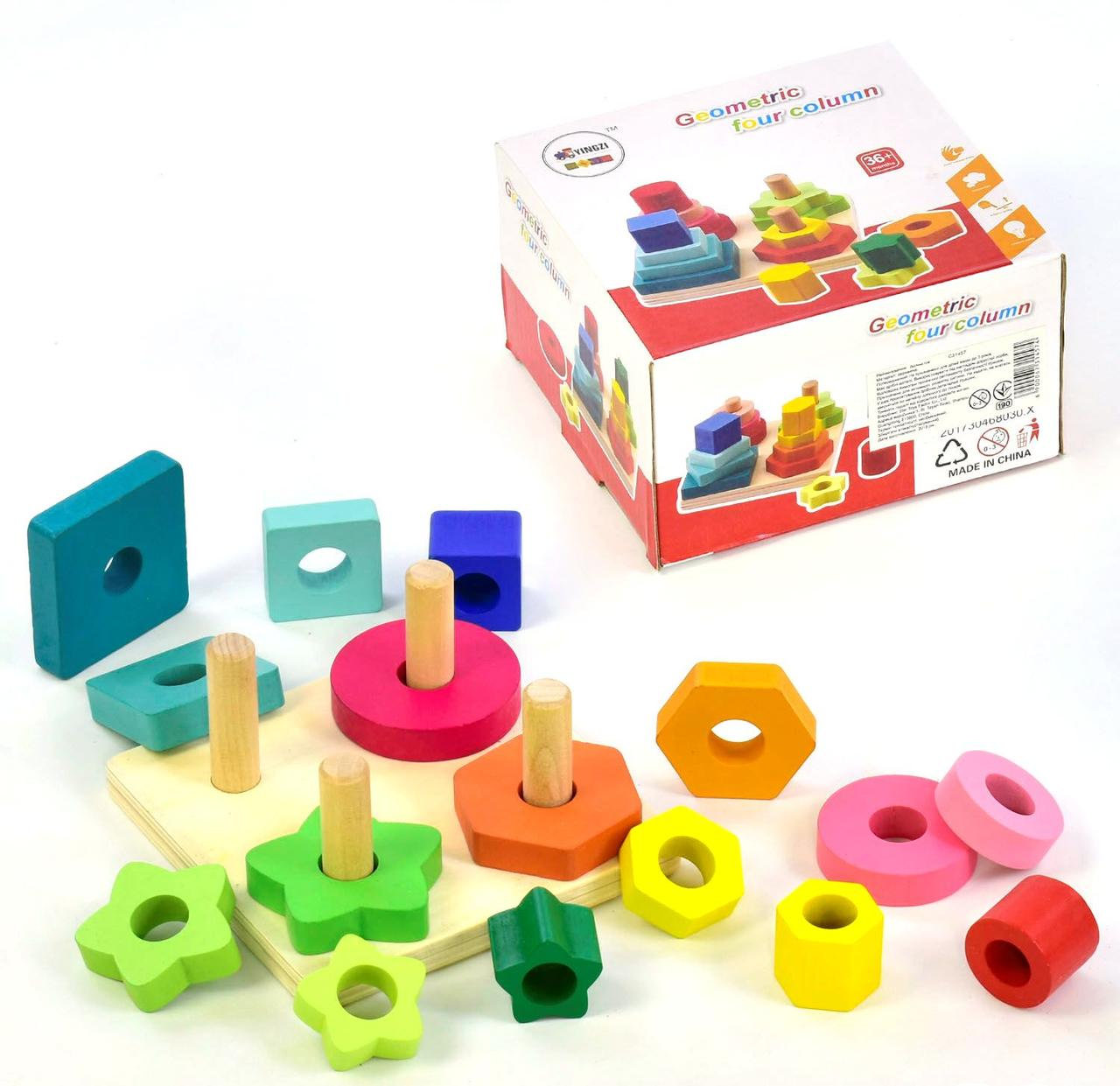 Дерев'яна іграшка Пірамідки З 31457