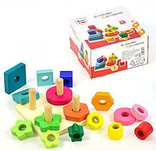 Деревянная игрушка Пирамидки С 31457