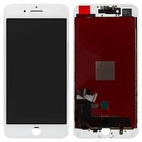 Дисплей для iPhone 7 Plus, модуль в сборе (экран и сенсор), с рамкой, белый, оригинал