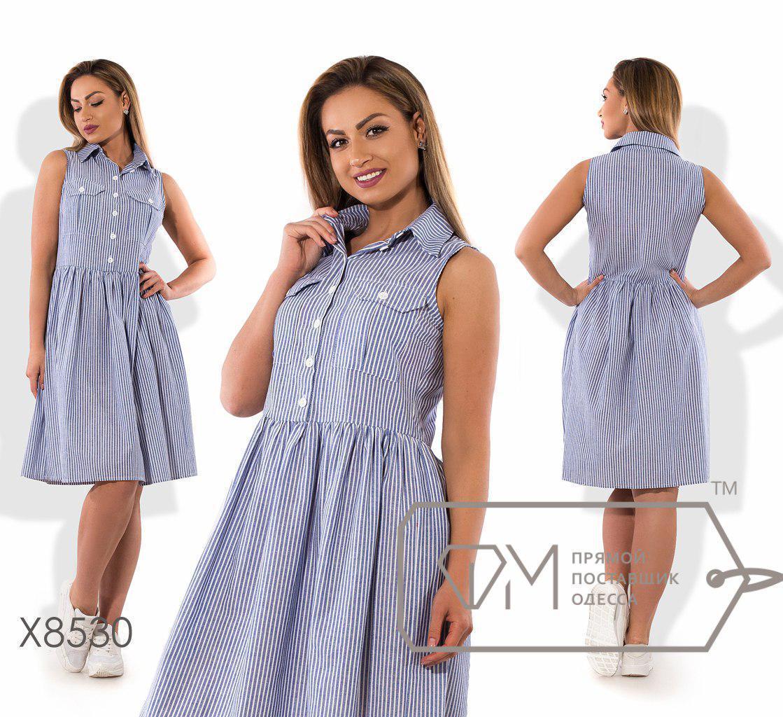Льняное летнее платье большого размера миди длиной без рукавов fmх8530