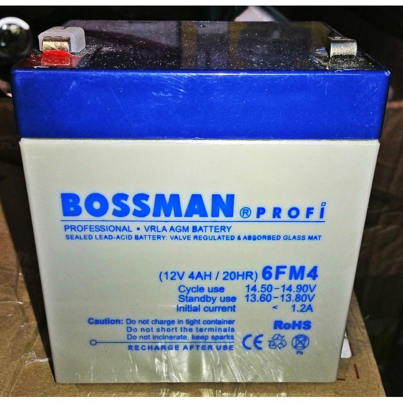 Аккумулятор BOSSMAN 12v 4AH/20HR 6FM4 PROFI 90 х 70 х 101 мм