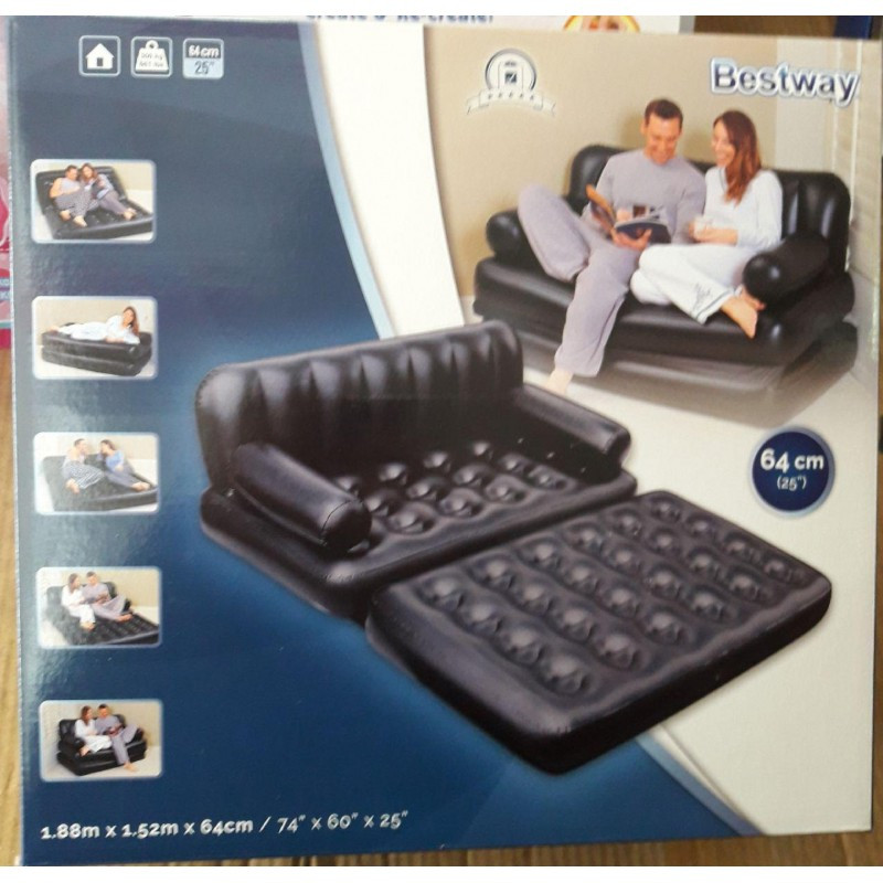 Надувной диван-трансформер Bestway 75054 (188х152х64 см) без насоса