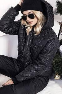 """Стеганый женский зимний костюм """"FENDY"""" с карманами и капюшоном"""