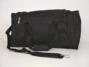 Черная спортивная сумка с плечевым ремнем 55*25*30 см, фото 3