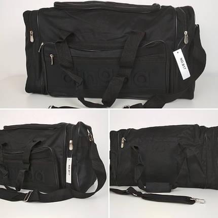 Черная спортивная сумка с плечевым ремнем 55*25*30 см, фото 2