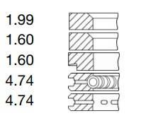 Поршневі кільця (5 кілець) Perkins 4.107