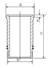 Гільза блоку циліндрів Perkins 4.107