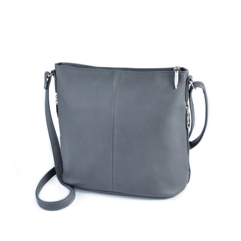 254cecd285ee Серая сумка М78-23 через плечо молодежная средняя кросс-боди, фото 1