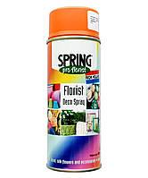 Краска для живых цветов SPRING 007 (400 мл) оранжевая