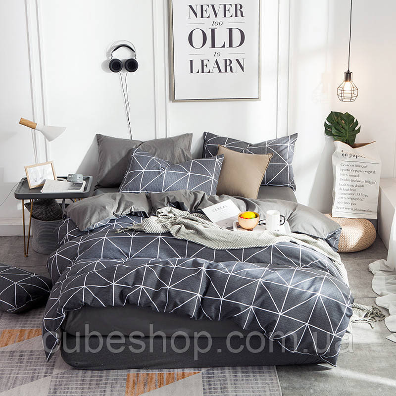 Комплект постельного белья Треугольники (полуторный)