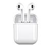 Бездротові навушники Bluetooth iFans HBQ I8X mini TWS білі магнітний кейс, фото 6