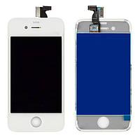 Дисплей для iPhone 4 (iPhone 4G), модуль в сборе (экран и сенсор), с рамкой, белый, оригинал