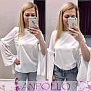 Женская прямая блуза с разрезами на рукавах 17bir161, фото 2