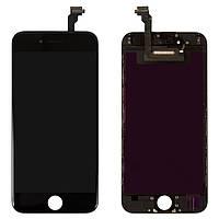 Дисплей для iPhone 6, модуль в сборе (экран и сенсор), с рамкой, черный, оригинал 100%